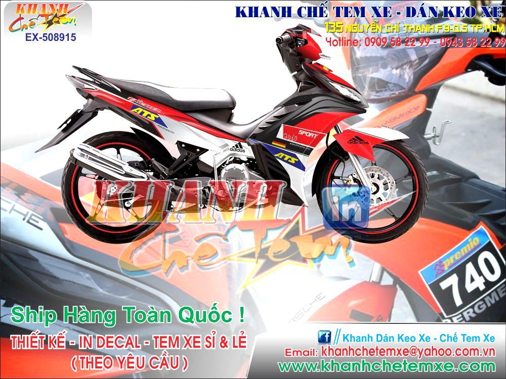 Tem Xe Exciter 2012 Khanh Chế Tem Xe D 225 N Keo Xe